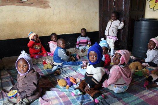 Macheo Malnourished Children's playroom.