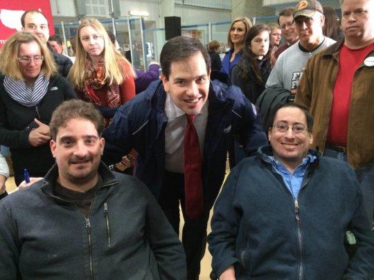 Team members with Ted Cruz