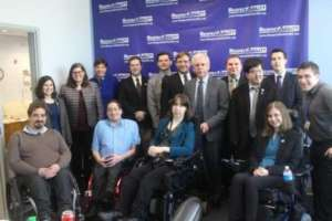 Rep. Tony Coehlo, co-author of the ADA, with team