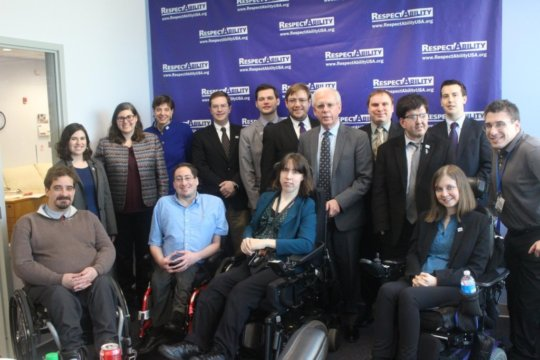 Our team with Tony Coelho, a main sponsor of ADA
