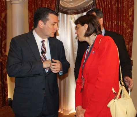 Our president with candidate Ted Cruz