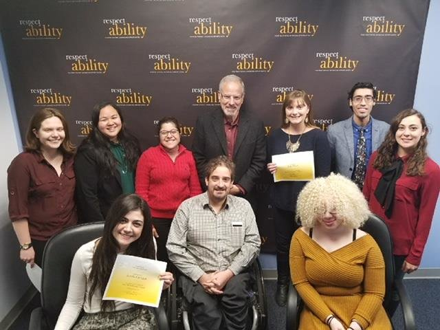 Fall 2017 fellows with staff