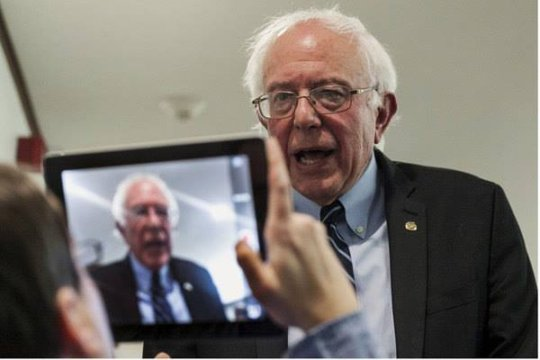 RespectAbility Fellow w/ candidate Bernie Sanders