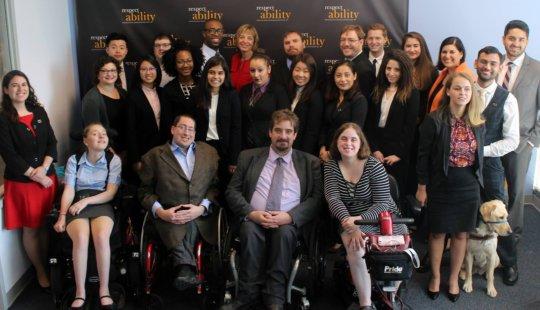 Staff, summer fellows and Chairman Calvin Harris