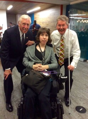 Fellow w/ Dem. Whip Steny Hoyer and John Pare