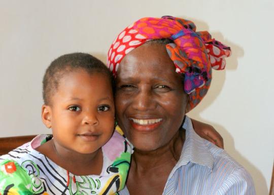 Stacy with Executive Director Kwamboka Okari