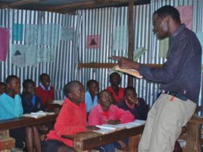 Head teacher prepares students for exams