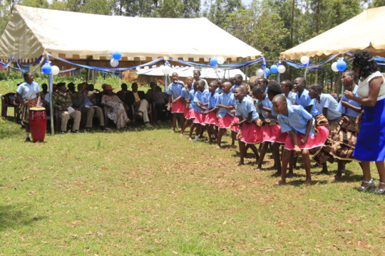 Girls perform during community water celebration