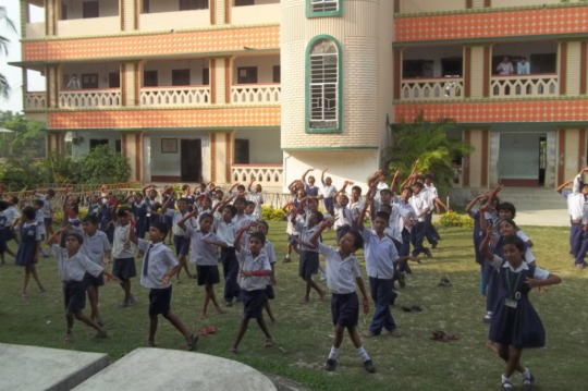 Students engaged in co - curricular activities