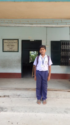 Biswanath ready for School