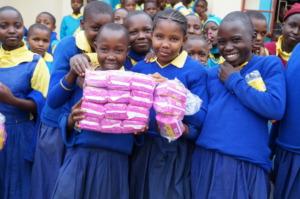 Happy Girls receiving pads