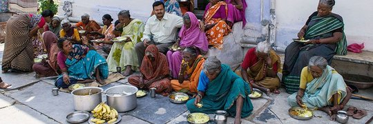 Sponsor Hot Meals for Destitute Elders in India