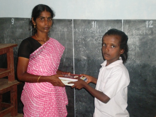 Ms.Selvi is girl beneficiary