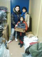 Delivery of the goods for the refugees