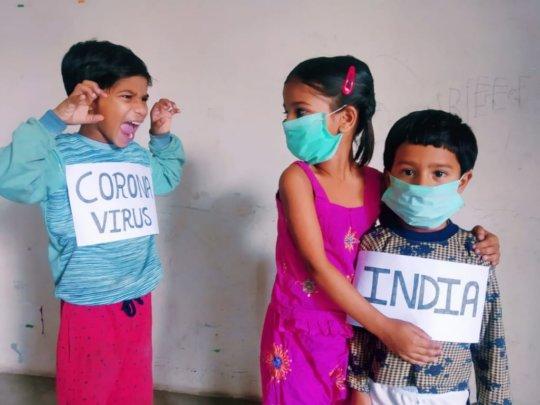 Children enacting Corona terror