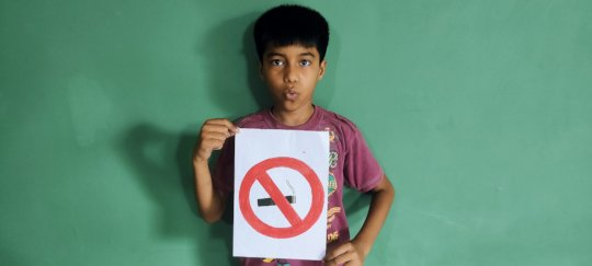 Creating awareness on Anti-tobacco day