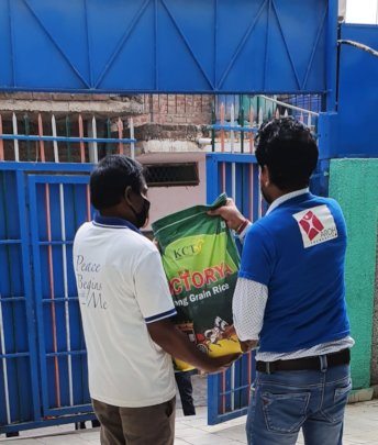 ration kit distribution by AROH