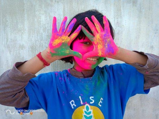 Holi celebration at RISE