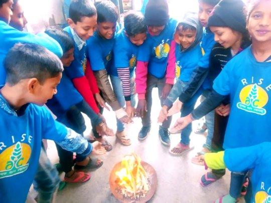 Children celebrates Lohri