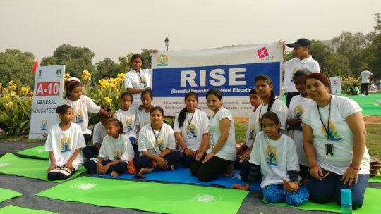 RISE at Yoga Event with Prime Minister