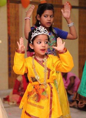 Winning hearts as little Krishna