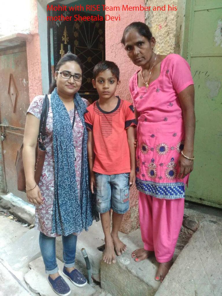 Mohit with Sheetala  & RISE member