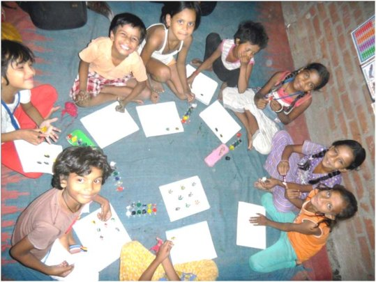 Children enjoying learning at the centre