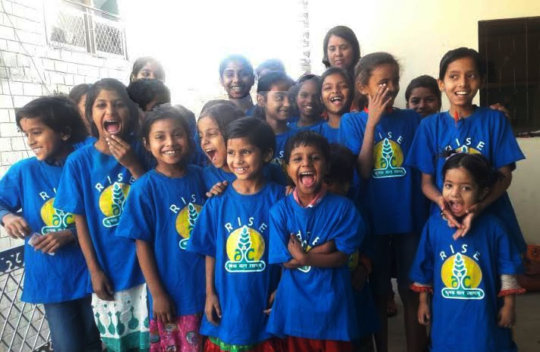 Happy kids at RISE Centre