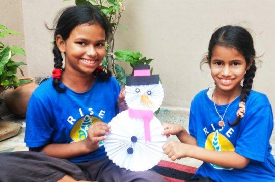 Children enjoying during summer workshop