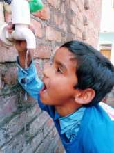 Teaching to save water at RISE