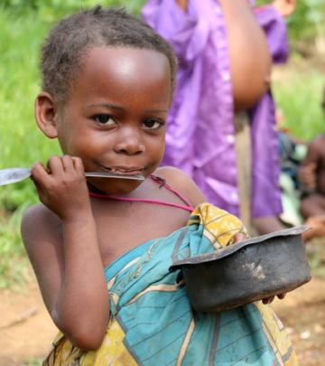 Mbuti child in Beka