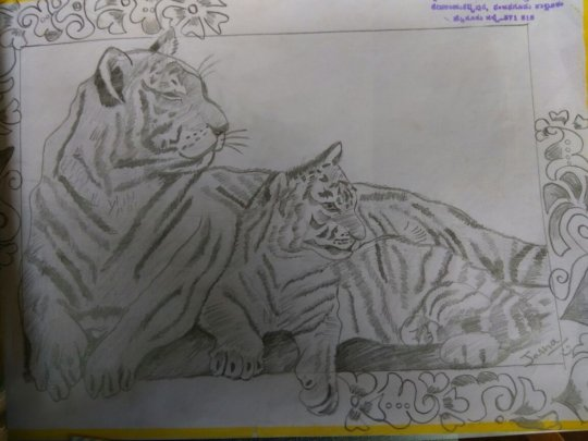 One of the entries in the drawing competition