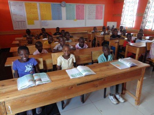 Children during holiday tutoring - no uniforms!