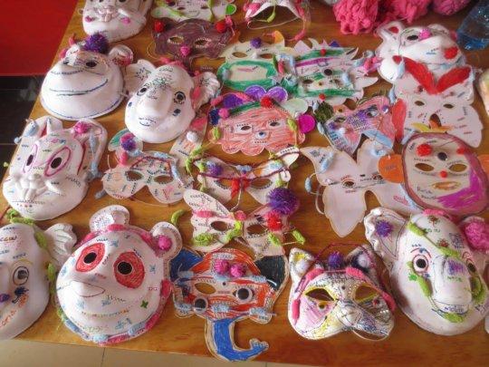 Self-made Masks for the Children