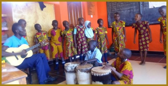 Music and Dance Lesson in Traditional Clothing