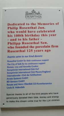 Dedication in Memory of Philp Rosenthal Jr and Sr