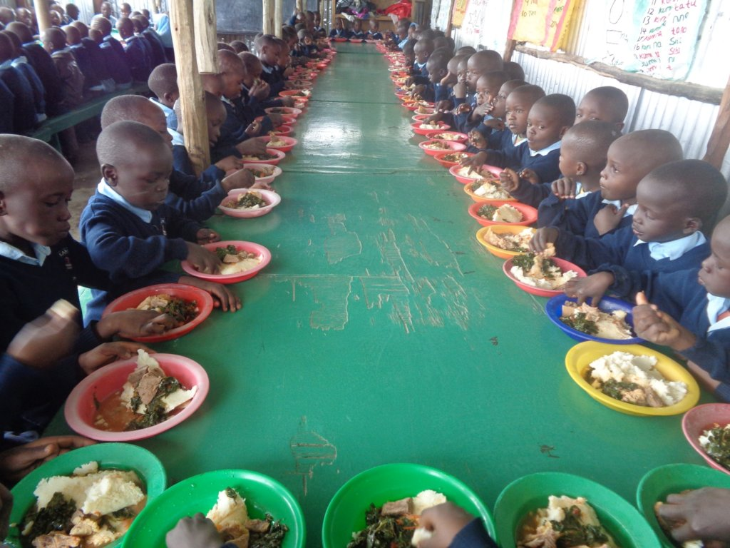 Happy Mealtime at the LLK Primary School