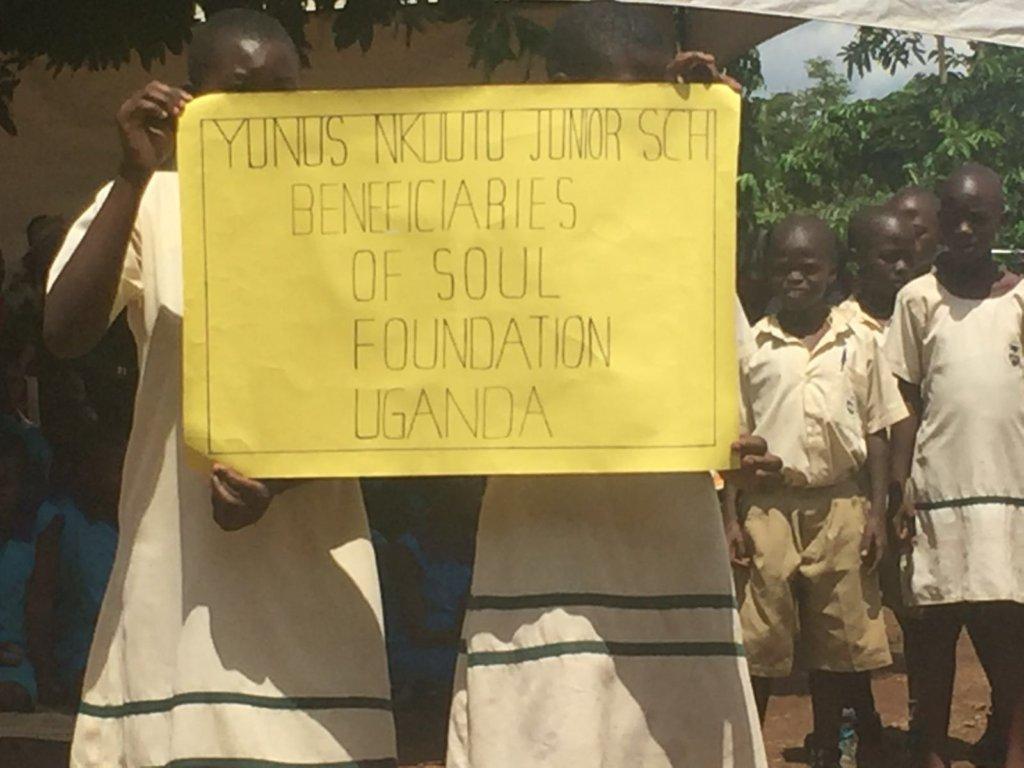 Sponsored students help welcome S.O.U.L. to Iganga