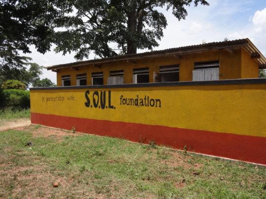 Latrine built in local school