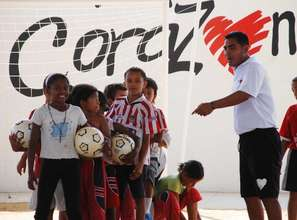 Learning to play Soccer for Peace!!!