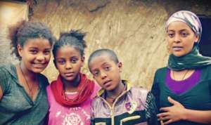 Biruktawit and her siblings