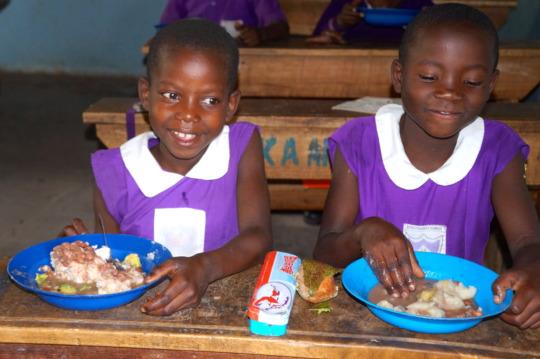 Nyaka Primary School Students Eating