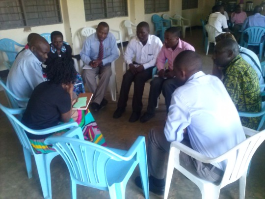 Group work during the training