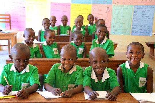 Children at Kutamba Primary School