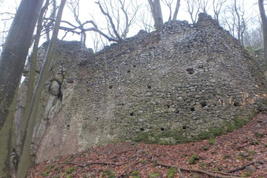 The walls of the Lower Castle
