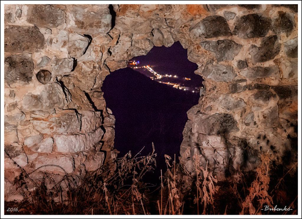 Szogliget through a porthole (G. Bubenko)