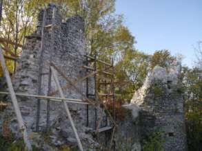 Reinforced wall (from NE)