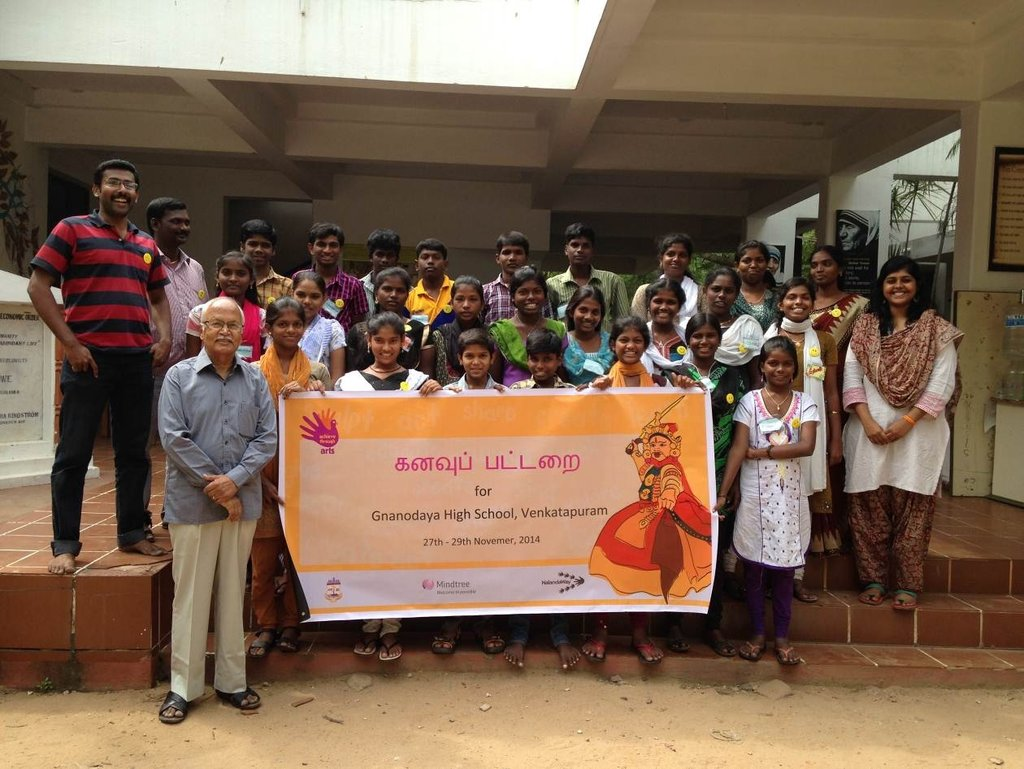 Food for 500 children in our art camps in India