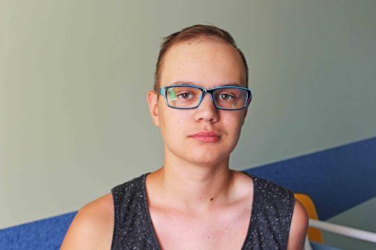 Slavik in the hospital