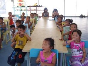 Pre-school in a BigTop in Sichuan